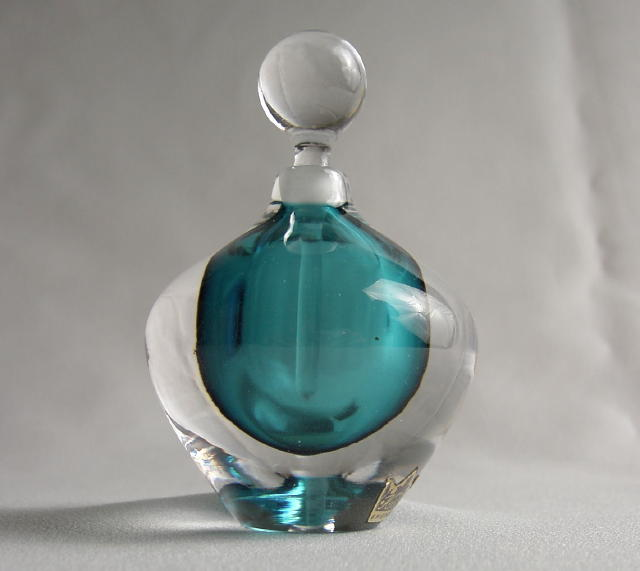 Kosta Hand Blown Perfume Bottle
